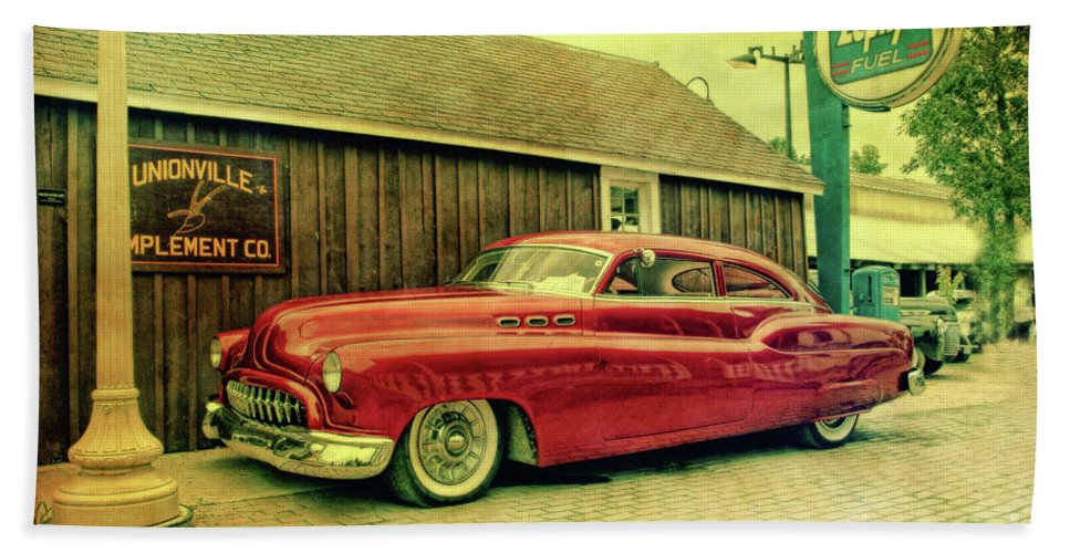 Car Show Beach Towel featuring the photograph Zephyr Fuel by Joel Witmeyer