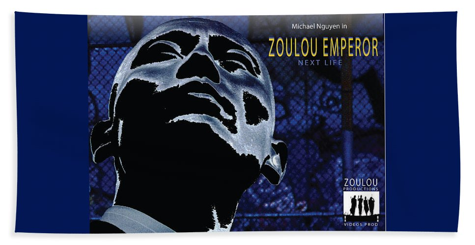Poster Beach Towel featuring the photograph Zoulou Emperor by Line Gagne