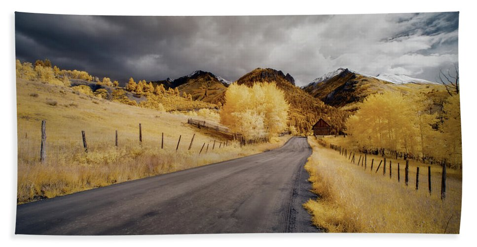 Colorado Beach Towel featuring the photograph Back Road In Colorado by Jon Glaser