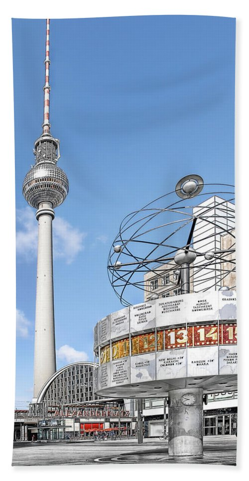 Germany Beach Towel featuring the photograph Berlin Alexanderplatz by Joachim G Pinkawa