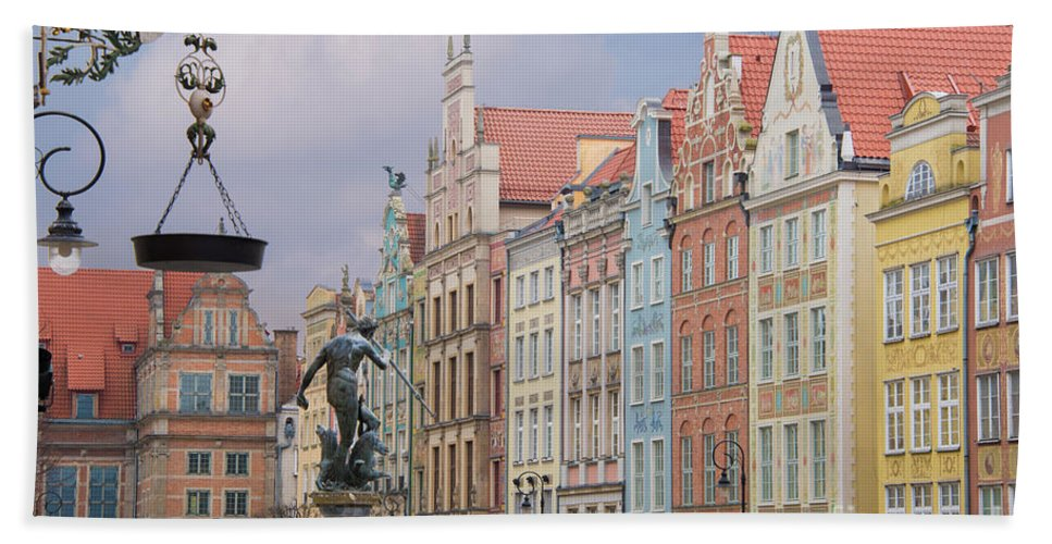 Architecture Beach Towel featuring the photograph Gdansk, Poland by Juli Scalzi