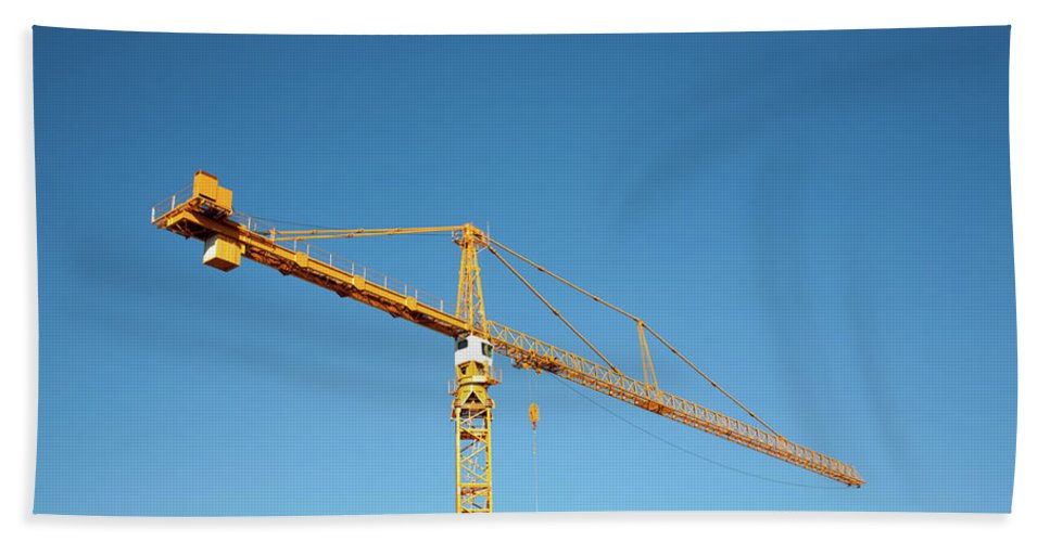 Yellow Beach Towel featuring the photograph Industrial Yellow by Todd Klassy