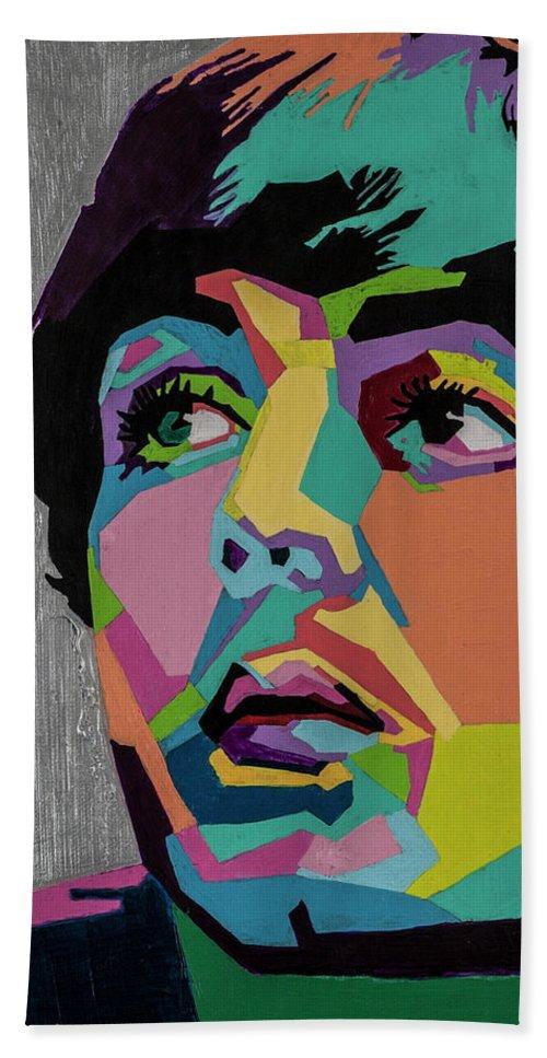 Paul Mccartney Beach Towel featuring the painting Sir Paul McCartney by Stacie Marie