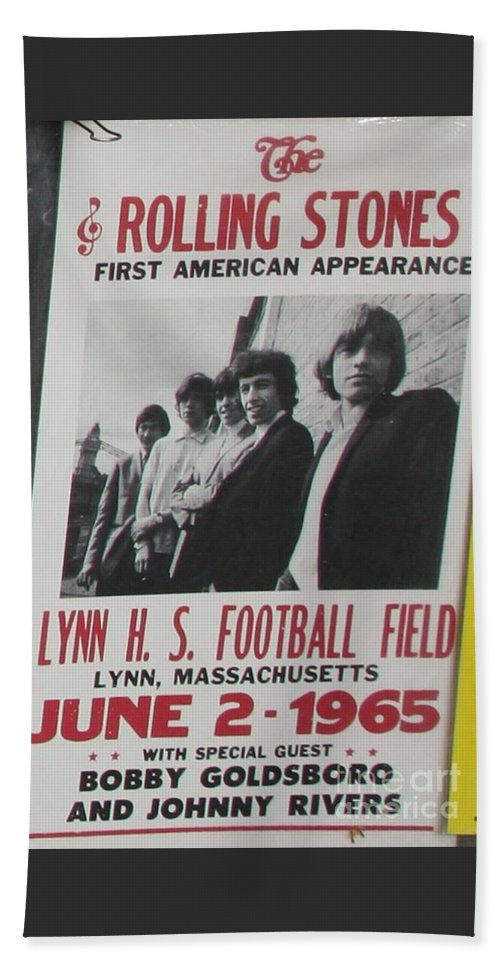Pop Art Beach Towel featuring the photograph 1965 Rolling Stones Poster First American Tour by Chuck Kuhn