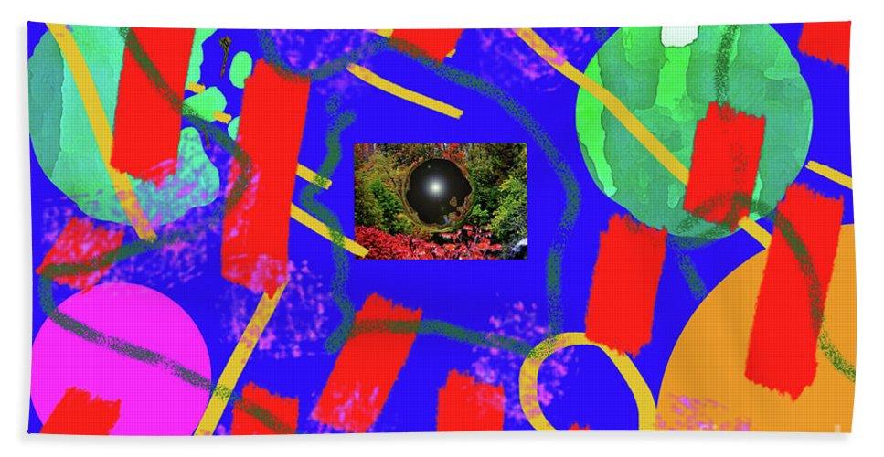 Walter Paul Bebirian Beach Towel featuring the digital art 2-27-2009qabc by Walter Paul Bebirian