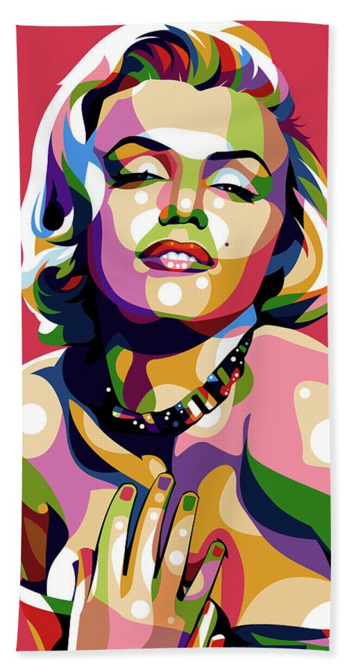 Marilyn Beach Towel featuring the digital art Marilyn Monroe by Stars on Art