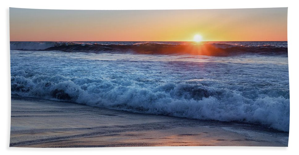 Sunset Beach Towel featuring the photograph Sunset by Hanna Tor