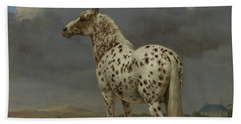 17th Century Art Beach Towel featuring the painting The Piebald Horse by Paulus Potter