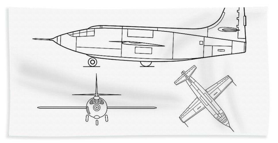 [DIAGRAM_38IS]  Bell X-1 - Airplane Blueprint. Drawing Plans or Schematics with design  outline for the Bell X-1 Beach Towel for Sale by StockPhotosArt Com | Airplane Schematics |  | Pixels