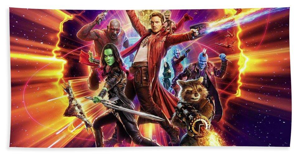 Guardians Of The Galaxy Beach Sheet featuring the digital art Guardians Of The Galaxy by Geek N Rock