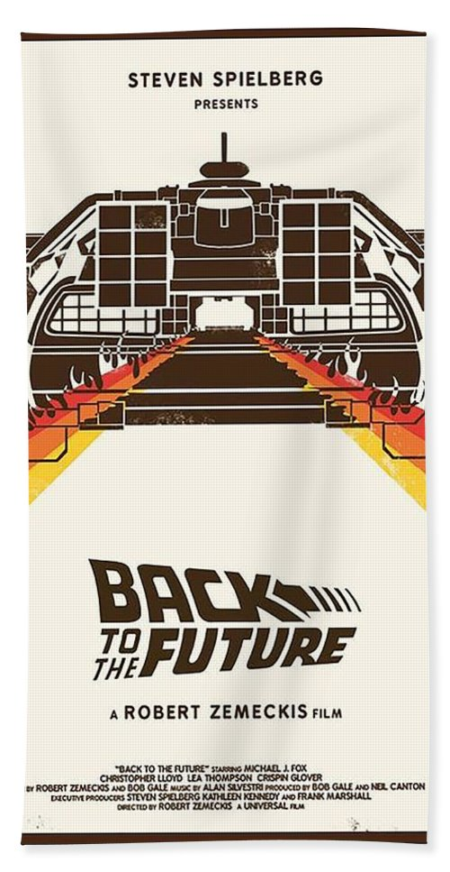 Back To The Future Beach Sheet featuring the digital art Back To The Future by Geek N Rock