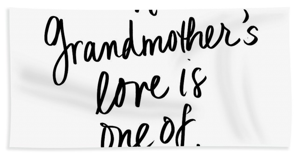 Grandmother's Beach Towel featuring the digital art A Grandmother's Love by Sd Graphics Studio