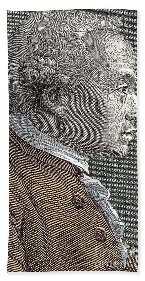 Kant Beach Towel featuring the drawing A Portrait Of Immanuel Or Emmanuel Kant by European School