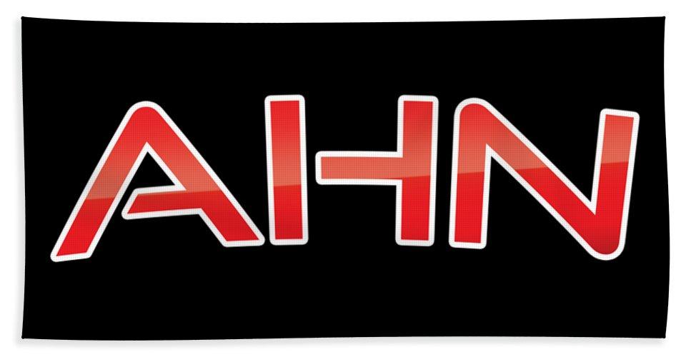 Ahn Beach Towel featuring the digital art Ahn by TintoDesigns