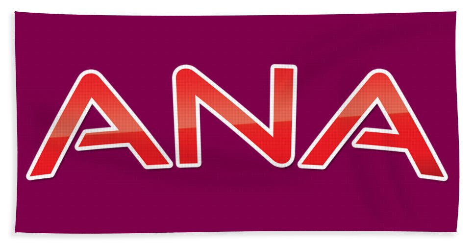 Ana Beach Towel featuring the digital art Ana by TintoDesigns