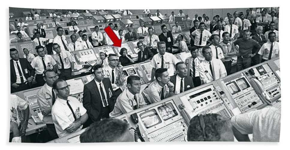 1969 Beach Towel featuring the photograph Apollo 11, Launch Control Center, Joann by Science Source