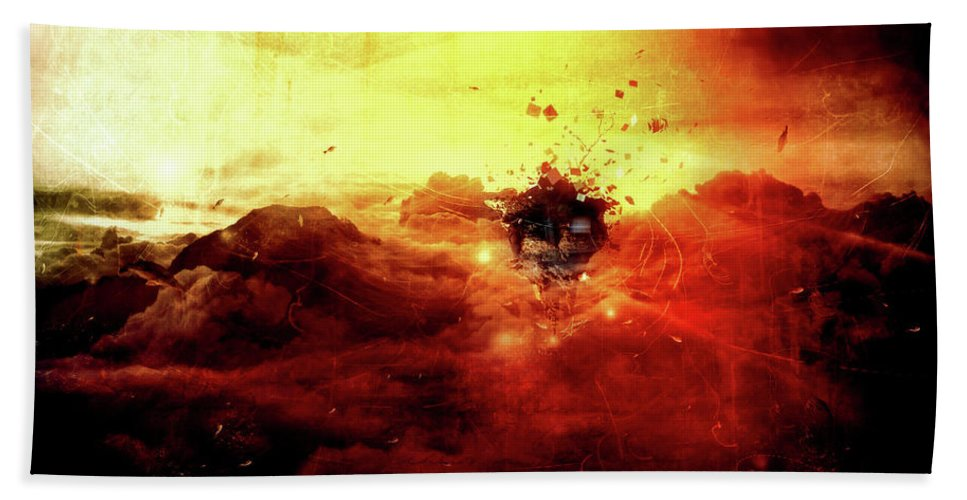Surreal Beach Towel featuring the digital art Are You There by Mario Sanchez Nevado