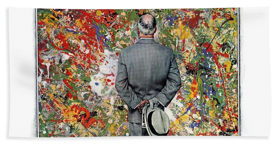 Art Beach Towel featuring the drawing Art Connoisseur by Norman Rockwell