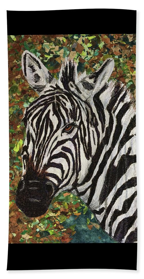 Zebra Beach Towel featuring the tapestry - textile Zebra by Dolores Fegan