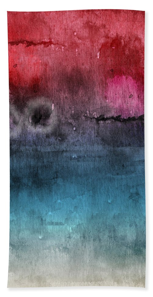 Abstract Beach Towel featuring the painting Awakened 4- Abstract Art by Linda Woods by Linda Woods
