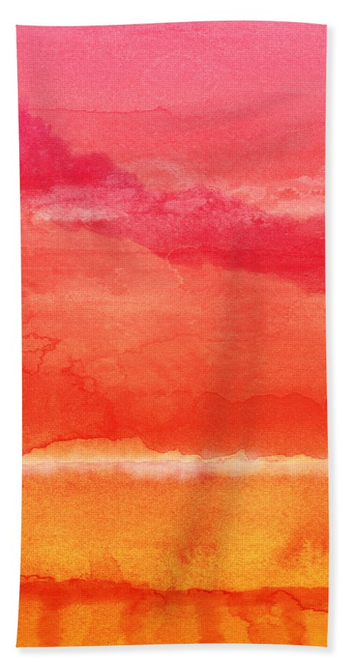 Abstract Beach Towel featuring the painting Awakened 5 - Art by Linda Woods by Linda Woods