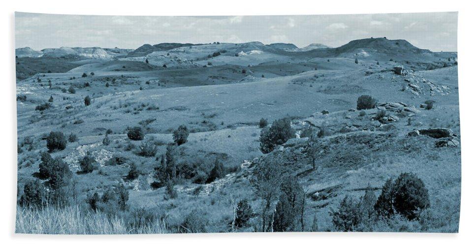 North Dakota Beach Sheet featuring the photograph Badlands Cloud Shadows by Cris Fulton