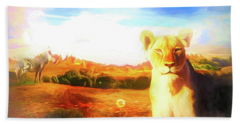 Afrika Beach Sheet featuring the digital art Be Careful by Jasmina Seidl