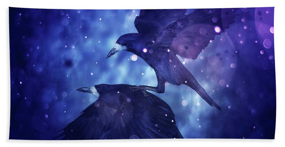 Bird Beach Towel featuring the digital art Bird Kingdom 3 by Johan Lilja