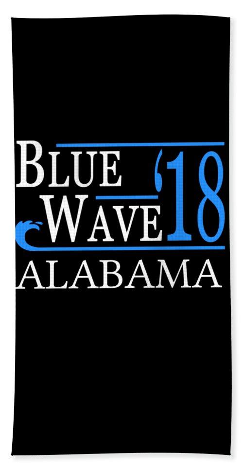 Election Beach Towel featuring the digital art Blue Wave Alabama Vote Democrat 2018 by Flippin Sweet Gear