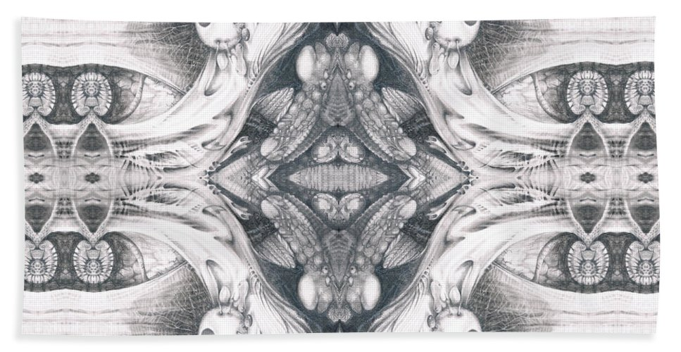 Fantasy; Surreal; Drawing; Otto Rapp; Art Of The Mystic; Michael Wolik; Photography; Bogomil Variations Beach Towel featuring the digital art Bogomil Variation 10 by Otto Rapp