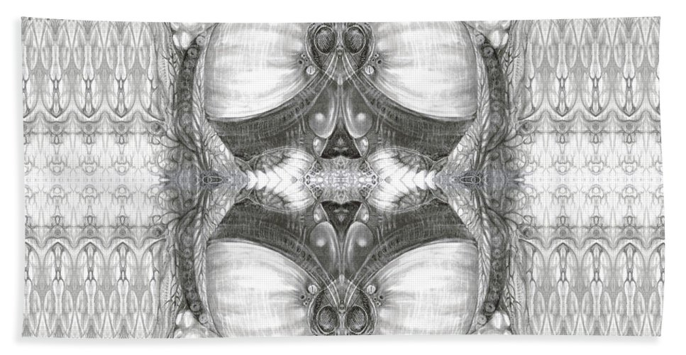 Fantasy; Surreal; Drawing; Otto Rapp; Art Of The Mystic; Michael Wolik; Photography; Bogomil Variations Beach Towel featuring the photograph Bogomil Variation 2 by Otto Rapp