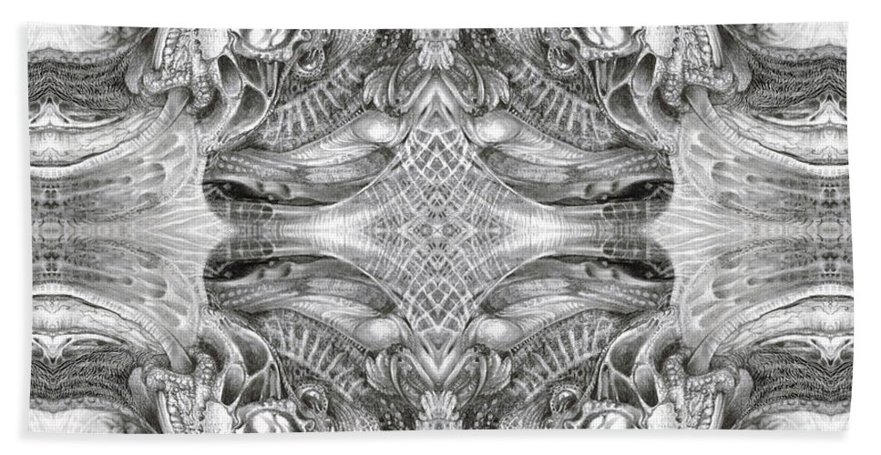 Fantasy; Surreal; Drawing; Otto Rapp; Art Of The Mystic; Michael Wolik; Photography; Bogomil Variations Beach Towel featuring the digital art Bogomil Variation 5 by Otto Rapp