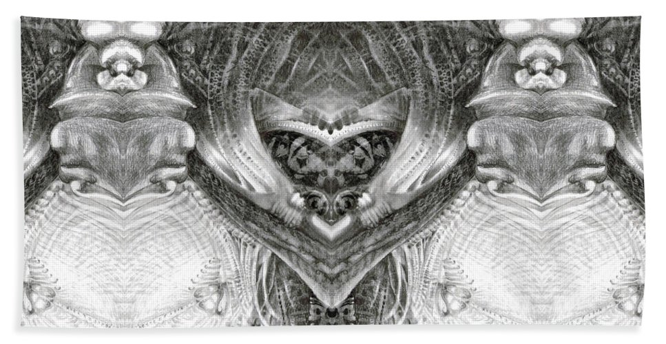 Fantasy; Surreal; Drawing; Otto Rapp; Art Of The Mystic; Michael Wolik; Photography; Bogomil Variations Beach Towel featuring the digital art Bogomil Variation 6 by Otto Rapp