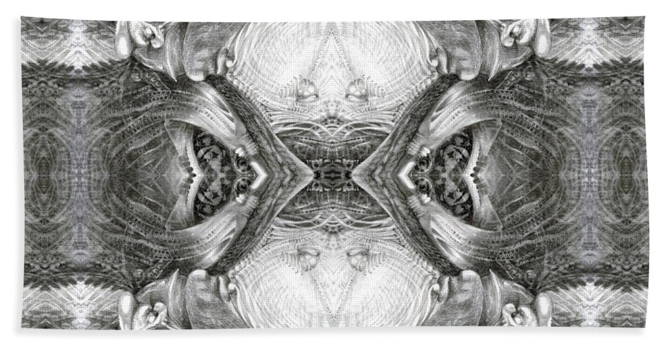 Fantasy; Surreal; Drawing; Otto Rapp; Art Of The Mystic; Michael Wolik; Photography; Bogomil Variations Beach Towel featuring the digital art Bogomil Variation 7 by Otto Rapp