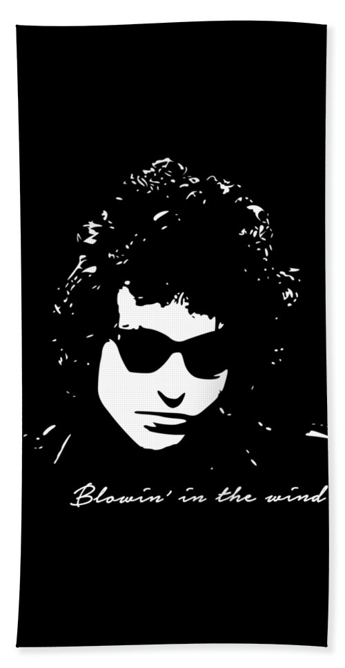 Bob Dylan Beach Towel featuring the digital art Bowin' In The Wind by Filip Schpindel