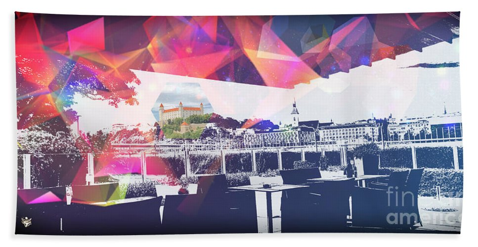 City Art Beach Sheet featuring the digital art Bratislava by Ron Labryzz