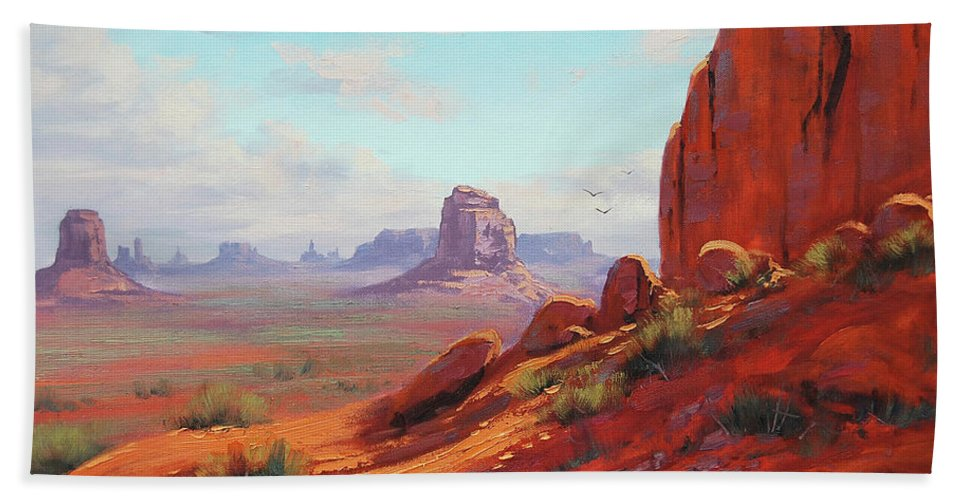 Canyonlands Beach Towel featuring the painting Canyonlands by Graham Gercken
