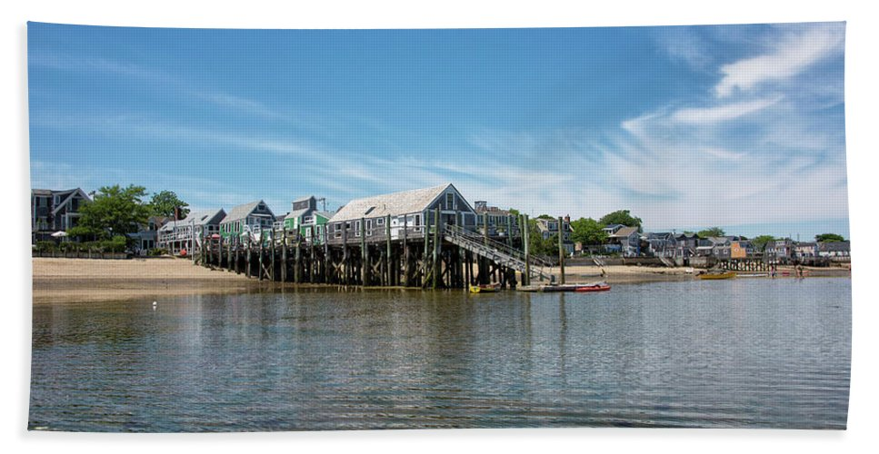 Provincetown Beach Towel featuring the photograph Captain Jack's Wharf - Provincetown Harbor - Massachusetts by Brendan Reals