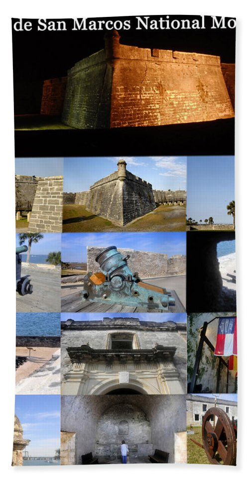 Castillo De San Marcos National Monument Beach Towel featuring the photograph Castillo De San Marcos National Monument by David Lee Thompson