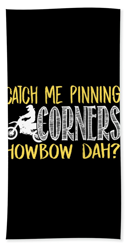 Dirtbike Beach Towel featuring the digital art Catch Me Pinning Corners Howbow Dah Motocross by Passion Loft