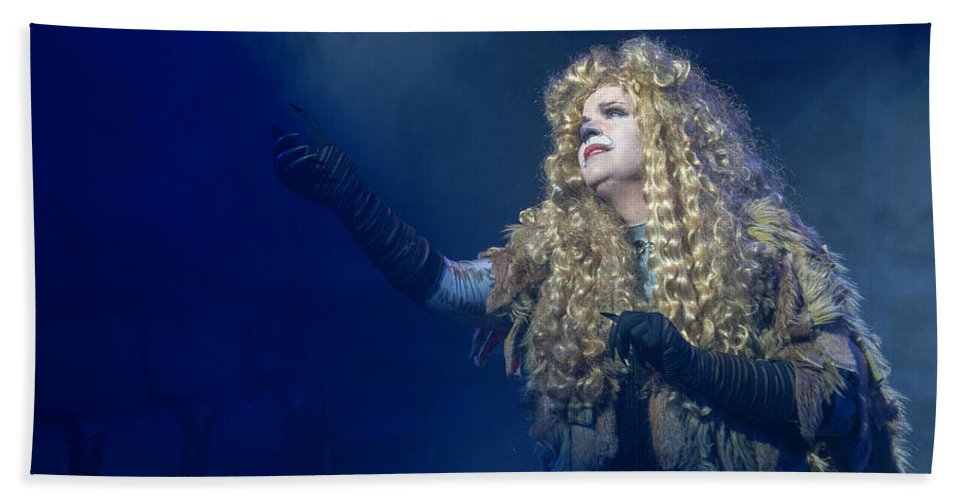 Broadway Beach Towel featuring the photograph CATS Publicity image by Alan D Smith