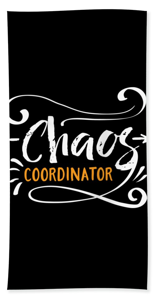 Mom Beach Towel featuring the digital art Chaos Coordinator by Passion Loft