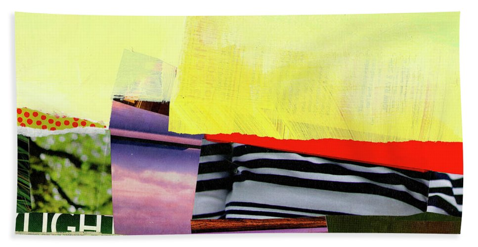 Abstract Art Beach Towel featuring the painting Checkered Past by Jane Davies