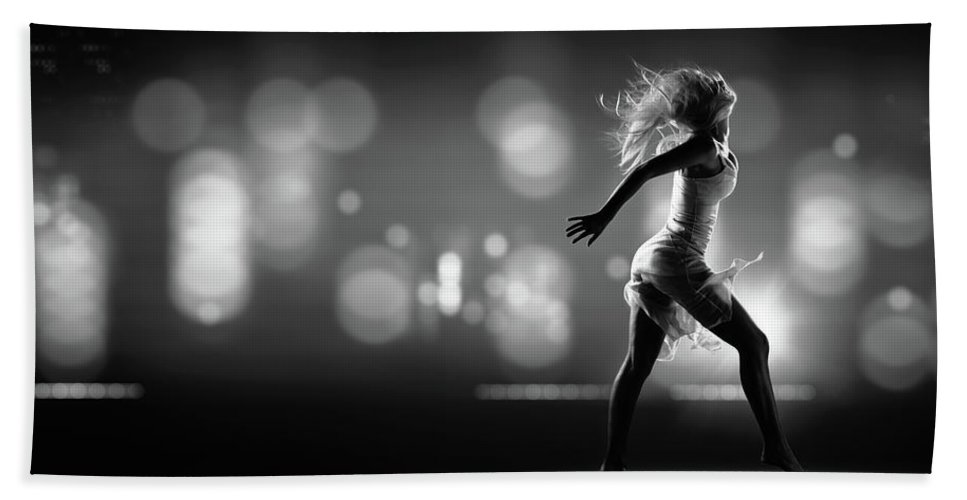 Girl Beach Towel featuring the photograph City Girl by Johan Swanepoel