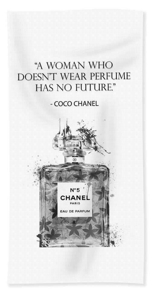 Coco Chanel Quotes - 6 Beach Towel