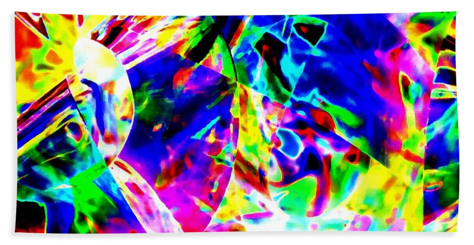 Abstract Beach Towel featuring the digital art Color To The Nth Degree by Will Borden