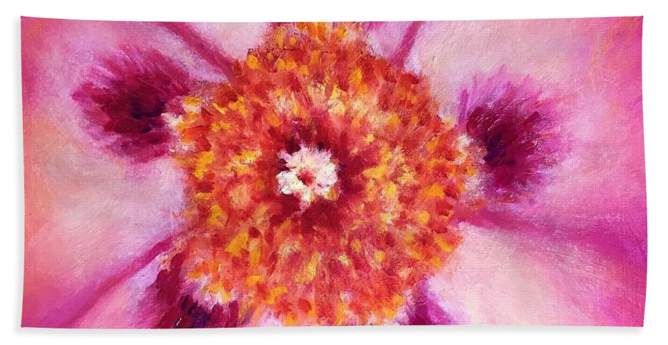 Compassion Beach Towel featuring the painting Compassion Heart Center Series by Shannon Grissom