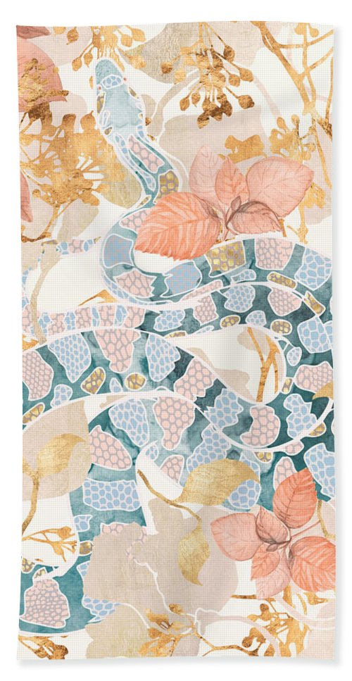 Coral Beach Towel featuring the digital art Coral Spring Garden by Spacefrog Designs