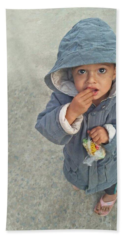 Cute Beach Towel featuring the photograph Cute Baby by Imran Khan