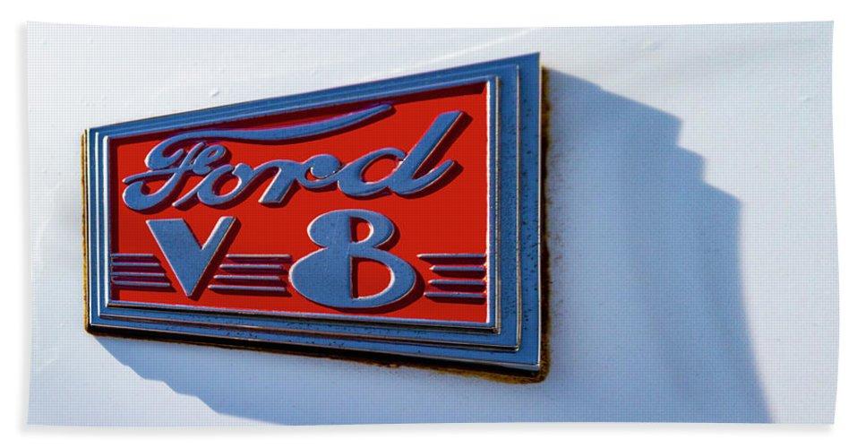 Cruzing Grand Beach Towel featuring the photograph Deco Logo by Guy Shultz